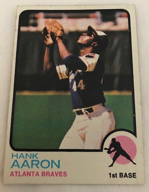 1973 Topps Hank Aaron Atlanta Braves #100 Baseball Card