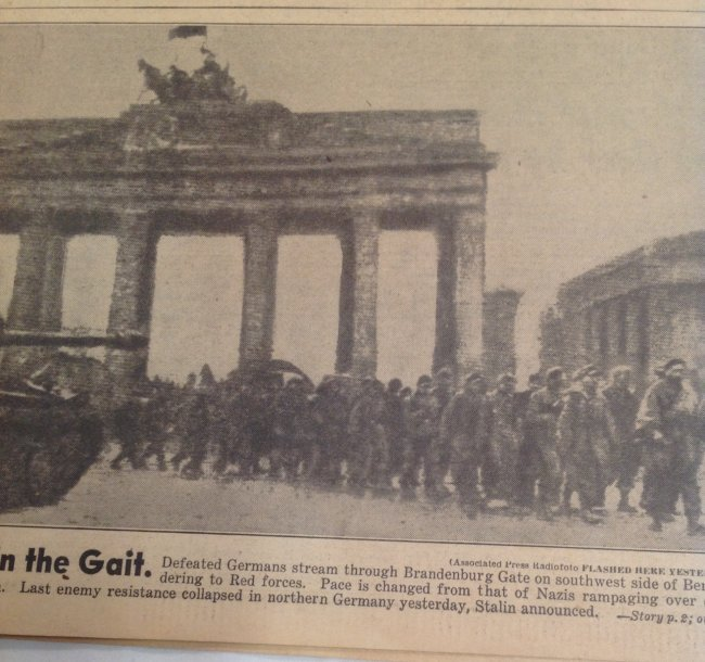 Berlin Falls 1945 Daily News - 2
