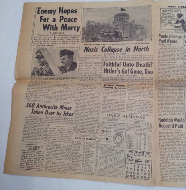 Berlin Falls 1945 Daily News - 4