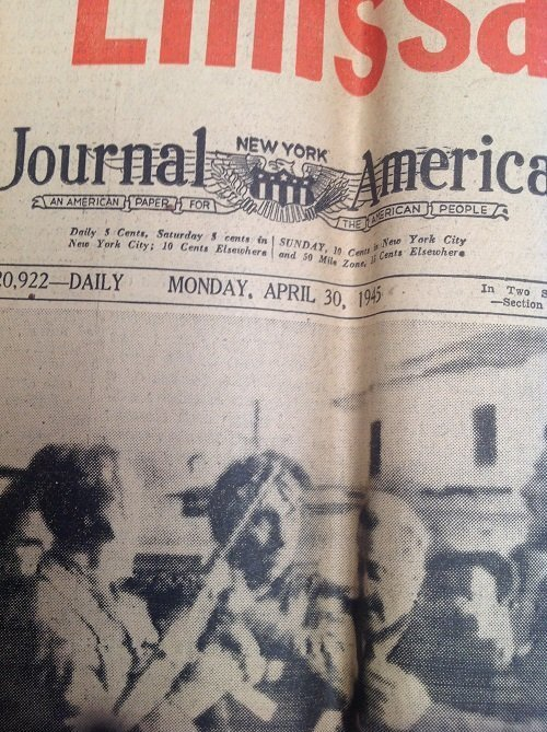 Mussionlini Excuted New York Journal 1945