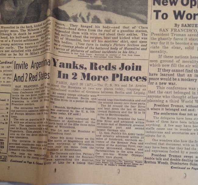 Mussionlini Excuted New York Journal 1945 - 3