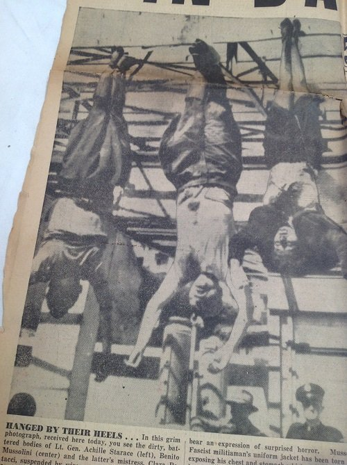 Mussolini Hanging & Hitler Dead NYJournal 1945 - 3