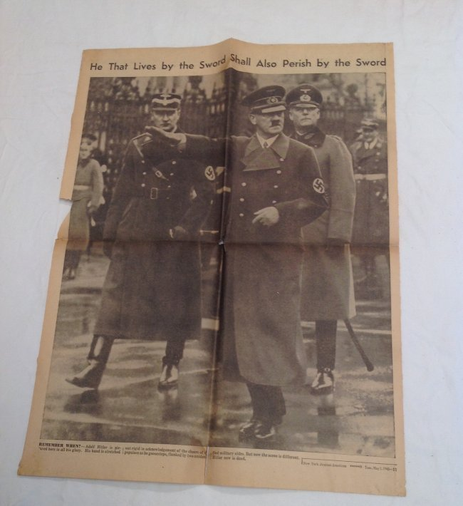 Death of Adolf Hitler NY Journal American 1945