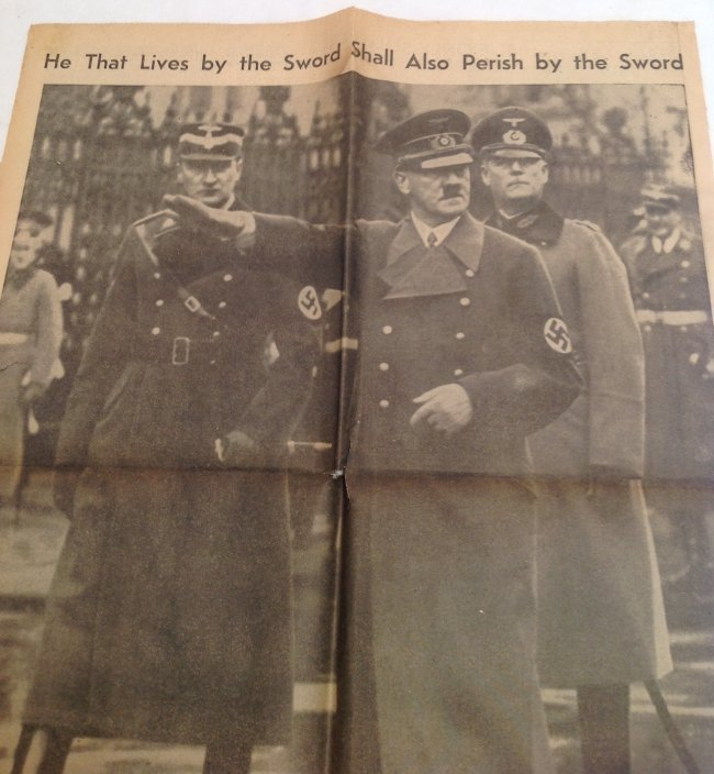 Death of Adolf Hitler NY Journal American 1945 - 2
