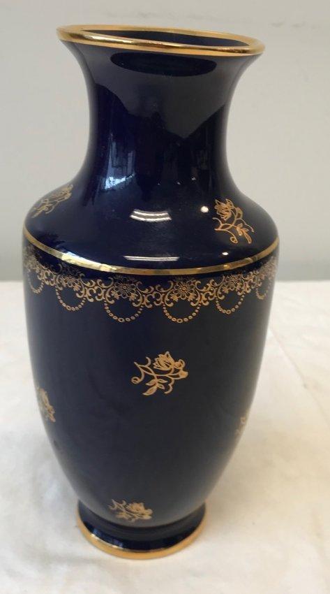 Limoges Vase Purple Gold Accents 9 H - 2