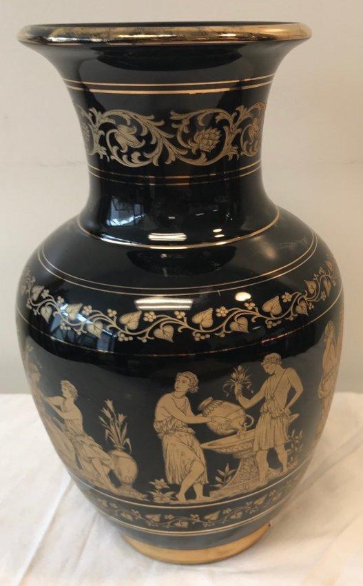 Strigos Hand made 24 Kt Gold Vase 13 H - 2