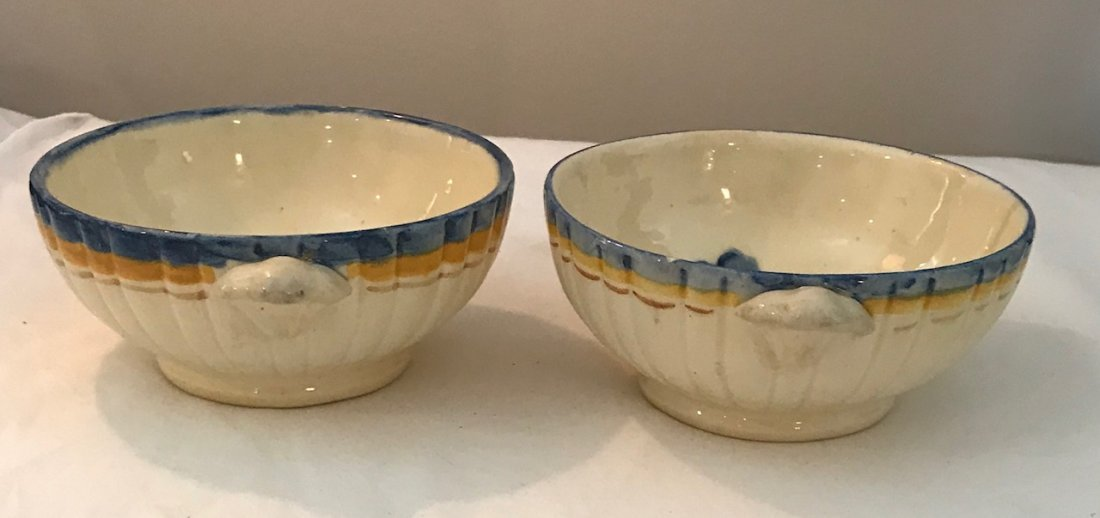 Two Italian porcelain Dish Bowl 5 Wide / Marked