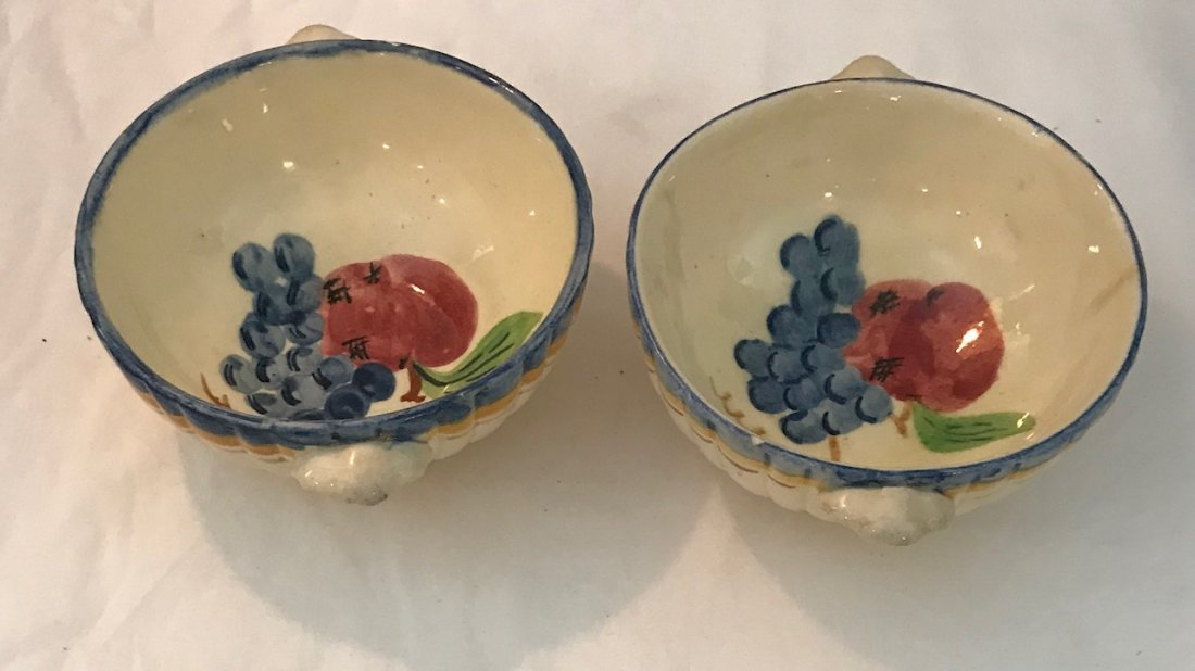 Two Italian porcelain Dish Bowl 5 Wide / Marked - 2