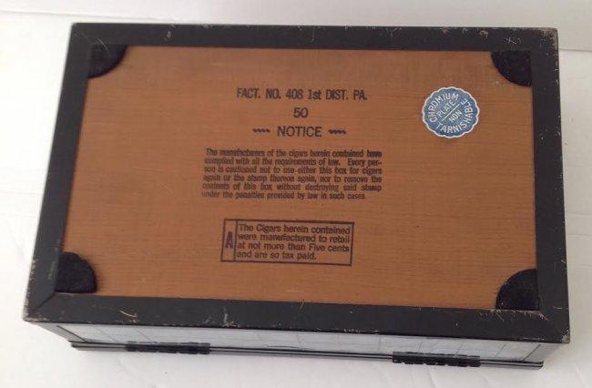 CHROMIUM PLATE CIGAR / TRINKET BOX- PATENT# - 6