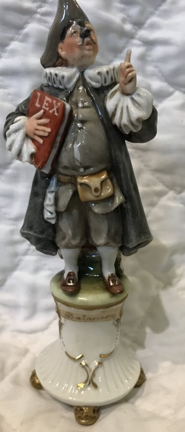 Italian Work of Art Figurine 8 H