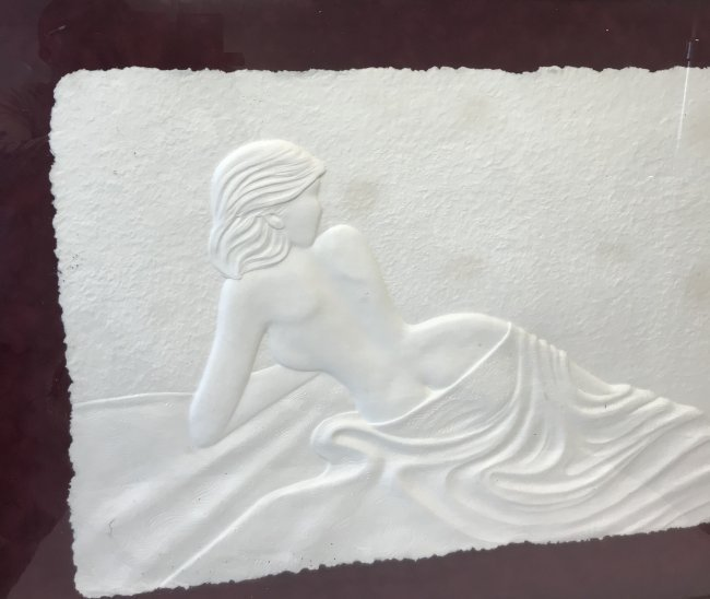 SIGNED 3D Print Nude Lady 38 x 30 - 3