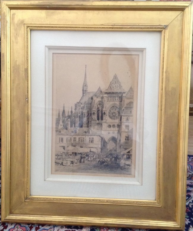 Signed Axel Herman Haig Framed Etching Print 28 X 23 - 2
