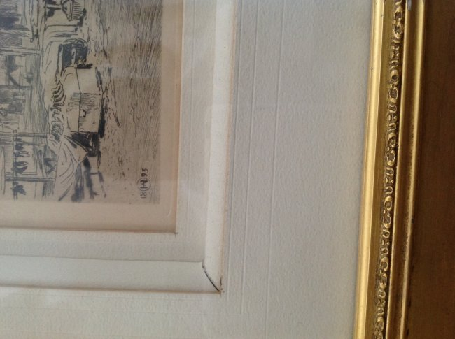 Signed Axel Herman Haig Framed Etching Print 28 X 23 - 3