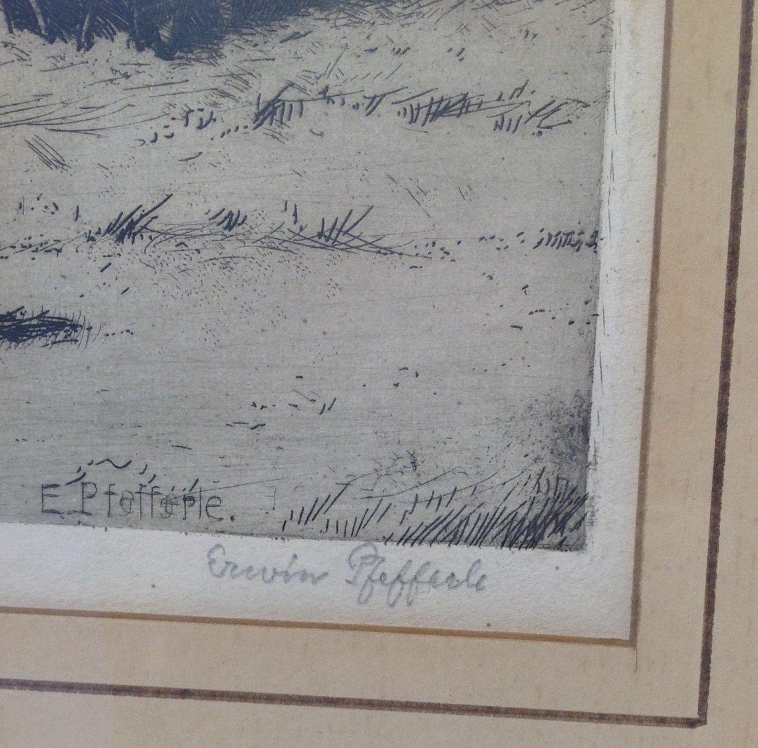 Erwin Pfefferle (German, 1880-1962) Etching 21 x 17 - 3