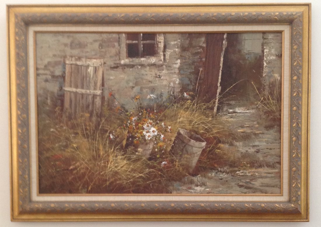 Signed CHADWICK Oil Painting on Canvas 43 x 31 - 2