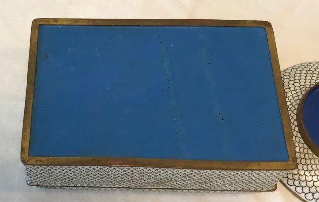 Gorgeous Cloisonne Trinket Box W/ 2 Trays - 3