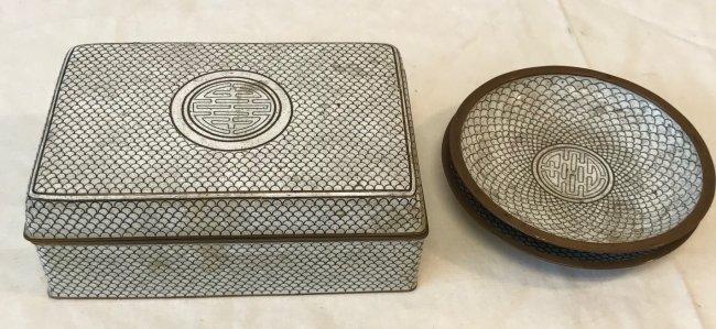 Gorgeous Cloisonne Trinket Box W/ 2 Trays - 4