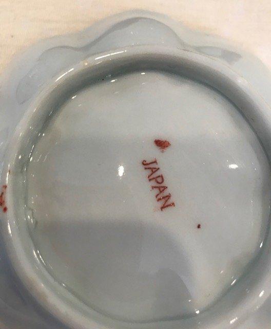 Vintage Japanese rice plate 5 Rim Diameter - 5
