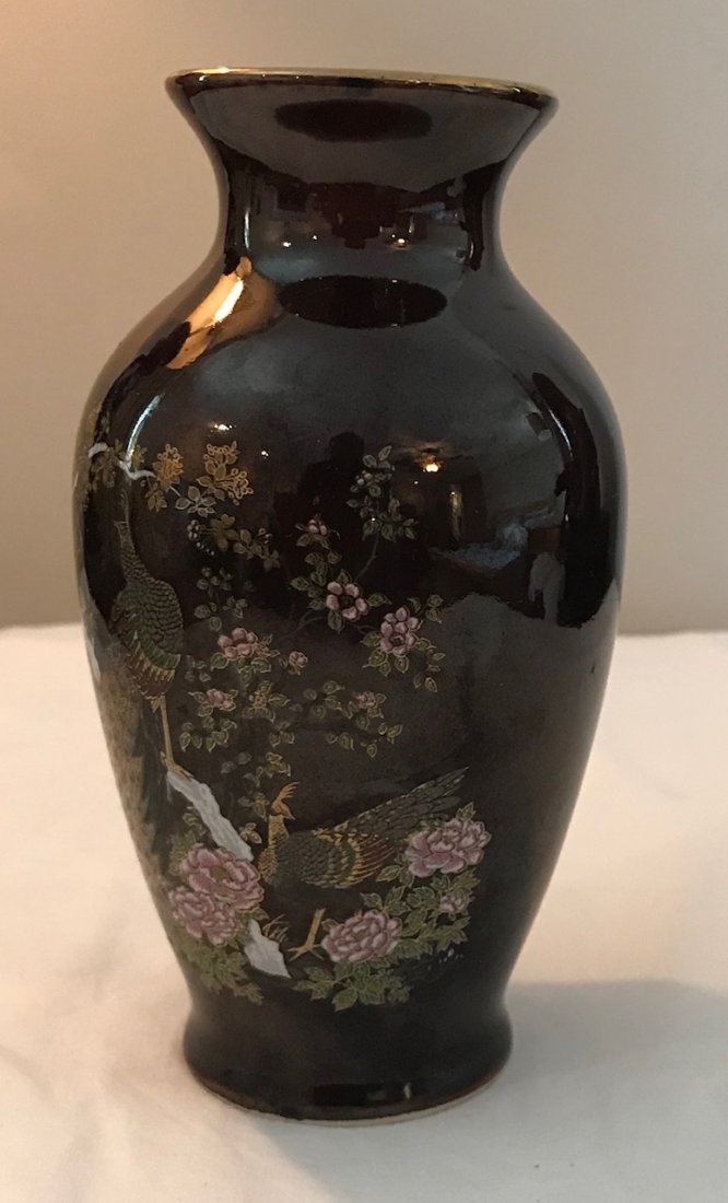 Gorgeous Japanese Floral / Bird Vase- Marked