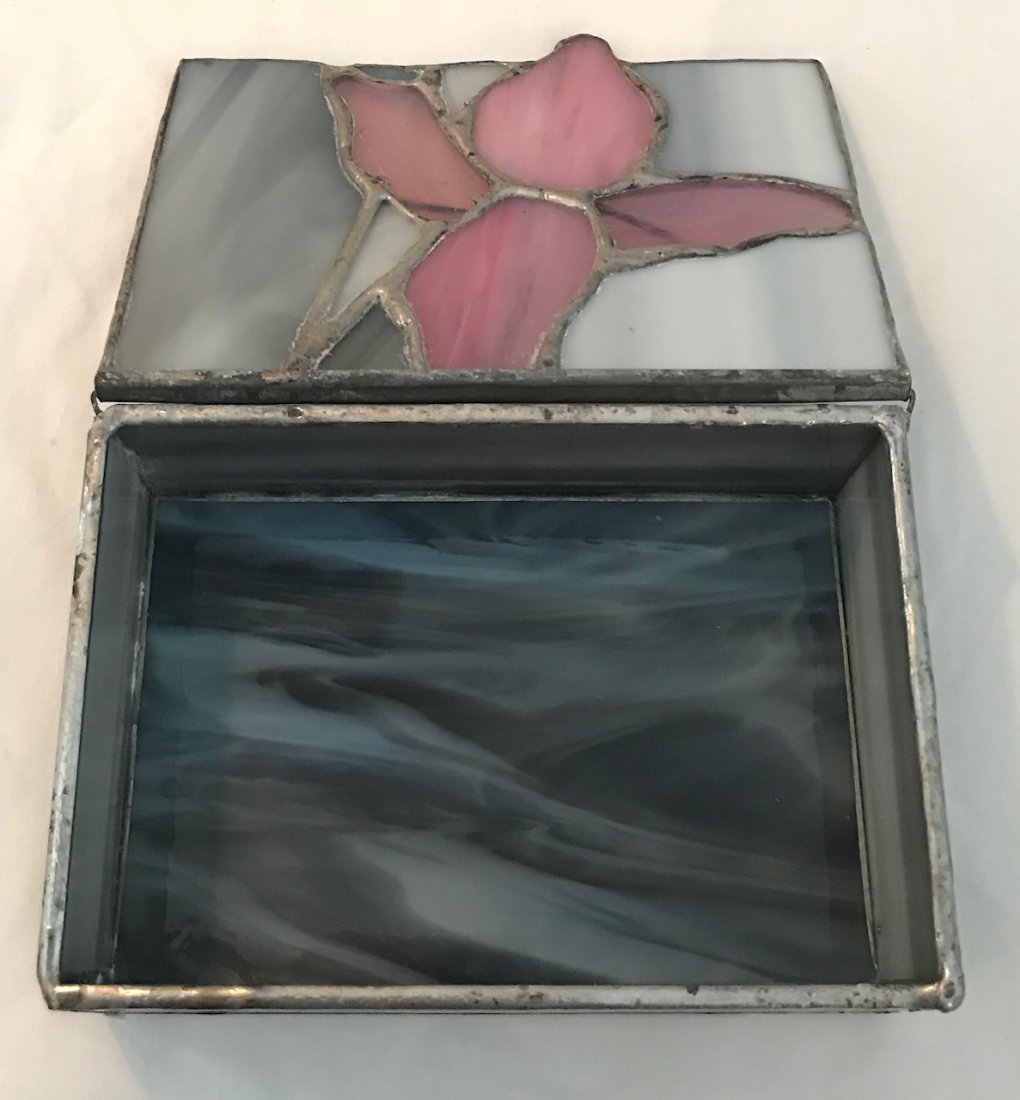 Stained Glass Trinket Box 5 x 3.5 - 2