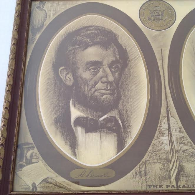 POSTER PRINT A LINCOLN & JOHN F. KENNEDY THE PARALLEL - 2