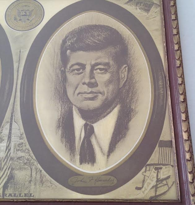 POSTER PRINT A LINCOLN & JOHN F. KENNEDY THE PARALLEL - 3