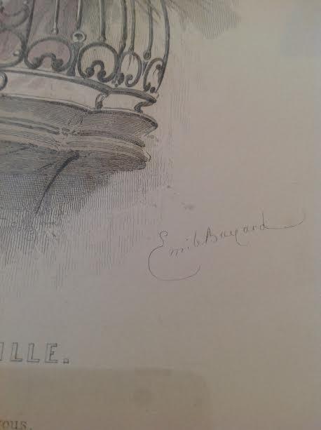 Rosine/ La Barbier de Seville Etching 16 x 12 - 4