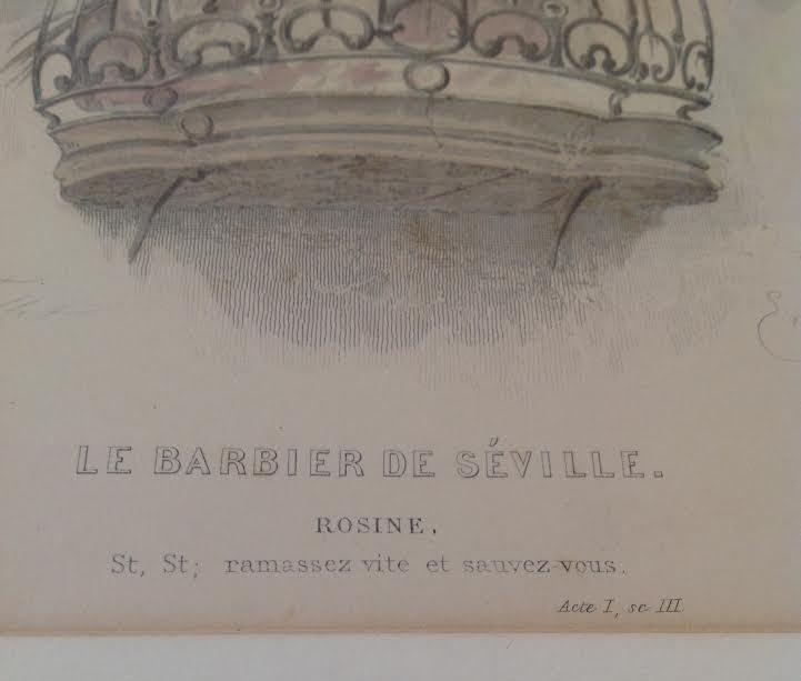 Rosine/ La Barbier de Seville Etching 16 x 12 - 5