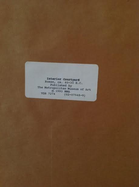 ROMAN COURTYARD LITHOGRAPH PRINT CIRCA- 40 BC 16 X 11 - 5