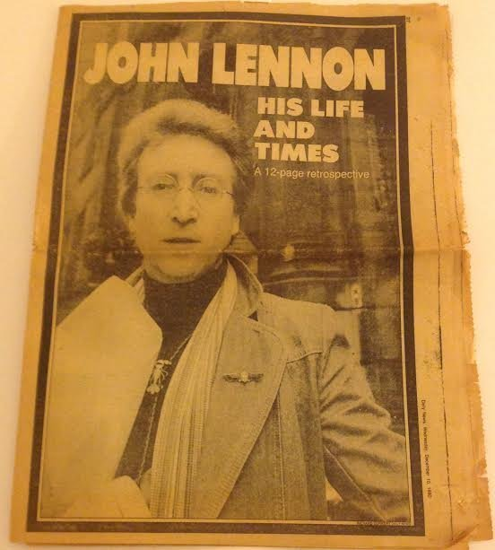JOHN LENNON DAILY NEWS NEWSPAPER-HIS LIFE & TIMES
