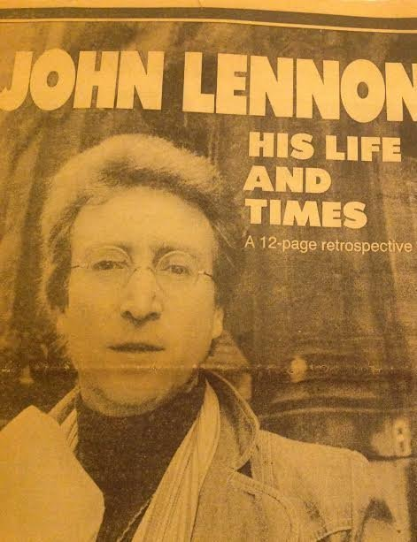 JOHN LENNON DAILY NEWS NEWSPAPER-HIS LIFE & TIMES - 2