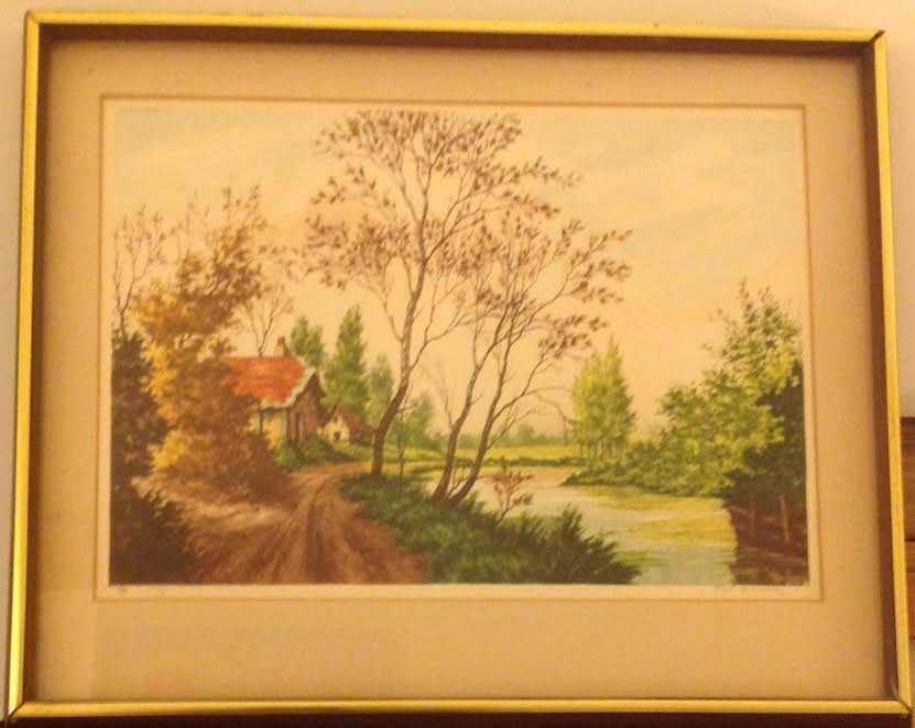 SIGNED PAUL GRANVILLE ETCHING 16 X 20