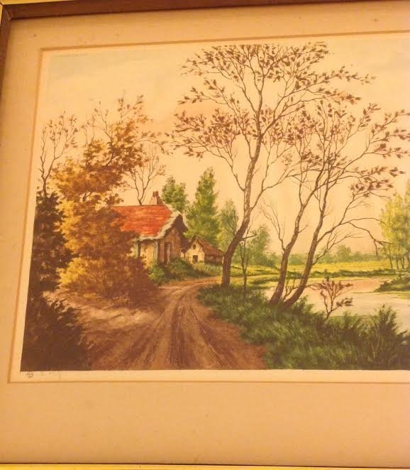 SIGNED PAUL GRANVILLE ETCHING 16 X 20 - 2