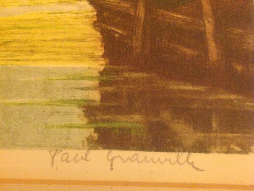 SIGNED PAUL GRANVILLE ETCHING 16 X 20 - 5