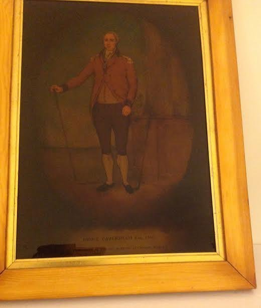 BRUCE CAVERSHAM ESQ PAINTING ON GLASS 1810 - 2