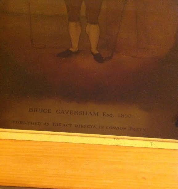BRUCE CAVERSHAM ESQ PAINTING ON GLASS 1810 - 3