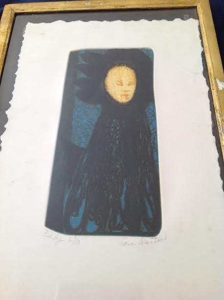 SARA AMATAUB COLOR LITHOGRAPH TITLE- BABY 19 X 13 - 3