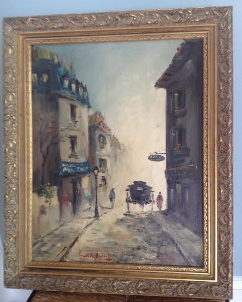 SIGNED OIL PAINTING FERNANDY CAHAL 18 X 14 - 2
