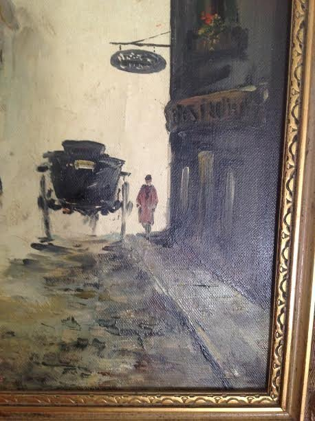 SIGNED OIL PAINTING FERNANDY CAHAL 18 X 14 - 3