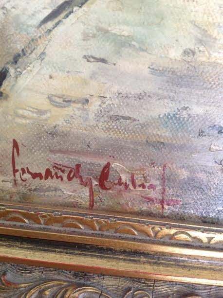 SIGNED OIL PAINTING FERNANDY CAHAL 18 X 14 - 4