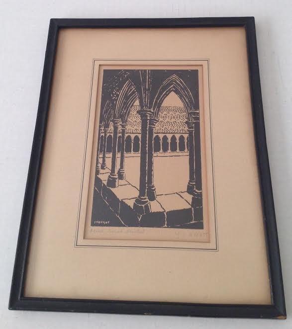 Jean Baptiste Yvangot Etching Print 11 x 9 - 2