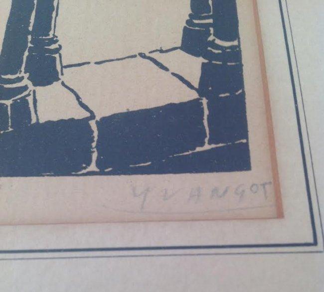 Jean Baptiste Yvangot Etching Print 11 x 9 - 3
