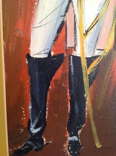 SIGNED MEXICAN TROOP LEGIONNAIRE PAINTING 24 X 11 - 4