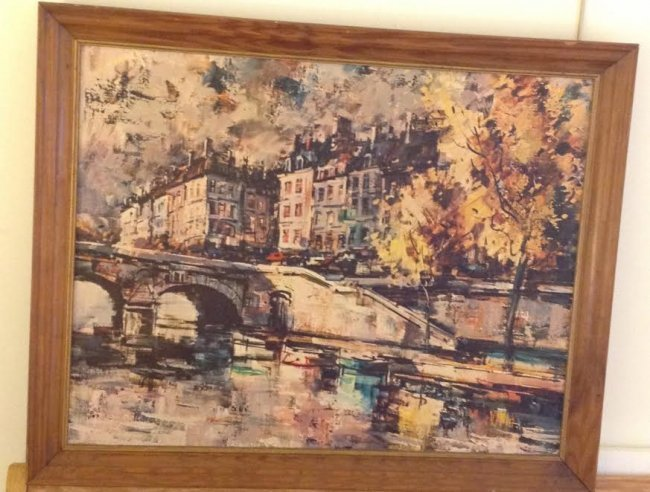 SIGNED OIL PAINTING BY J WARNER 32 X 25 - 2