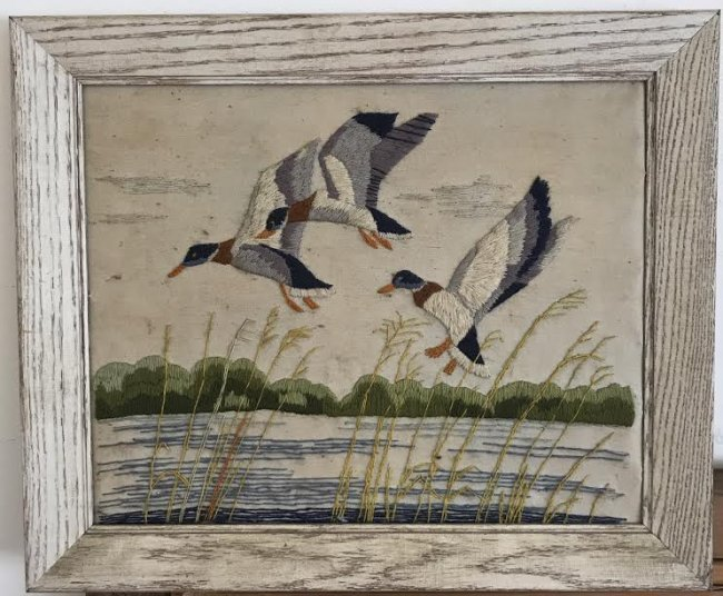 NEEDLEPOINT - MALLARD BIRDS 24 x 20 - 2