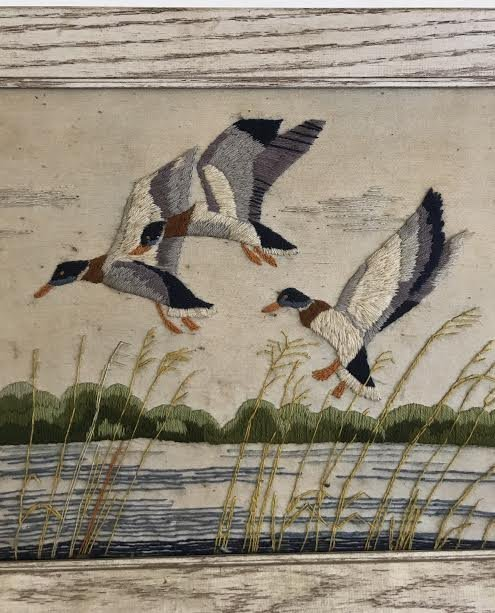 NEEDLEPOINT - MALLARD BIRDS 24 x 20 - 3