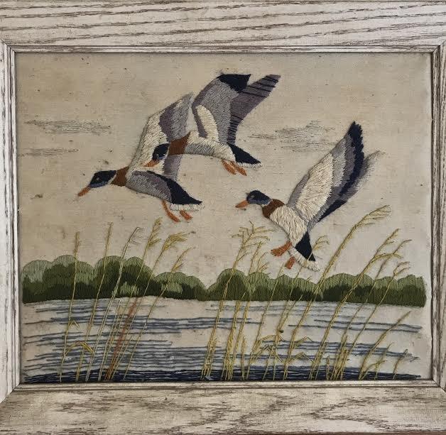 NEEDLEPOINT - MALLARD BIRDS 24 x 20 - 4