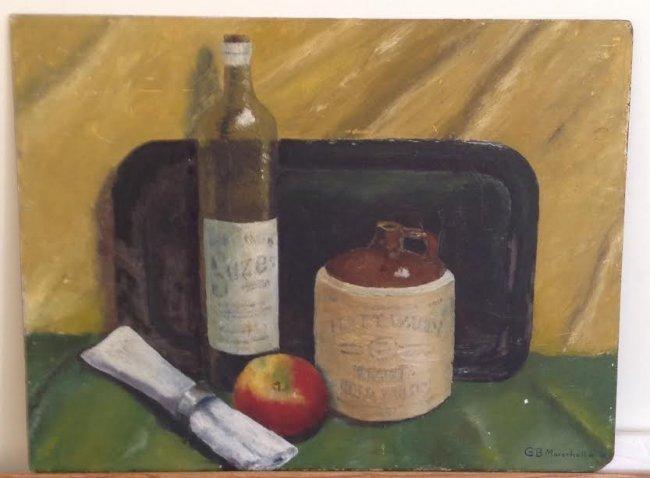 G.B Marschall Jr. 1961 Oil Painting 23 X 17 - 3