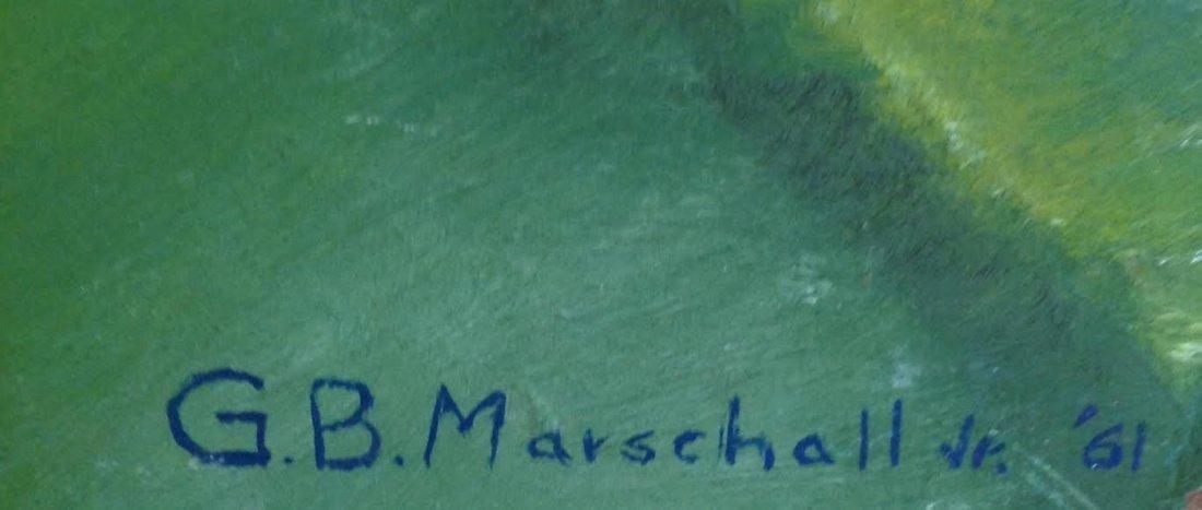 G.B Marschall Jr. 1961 Oil Painting 23 X 17 - 5