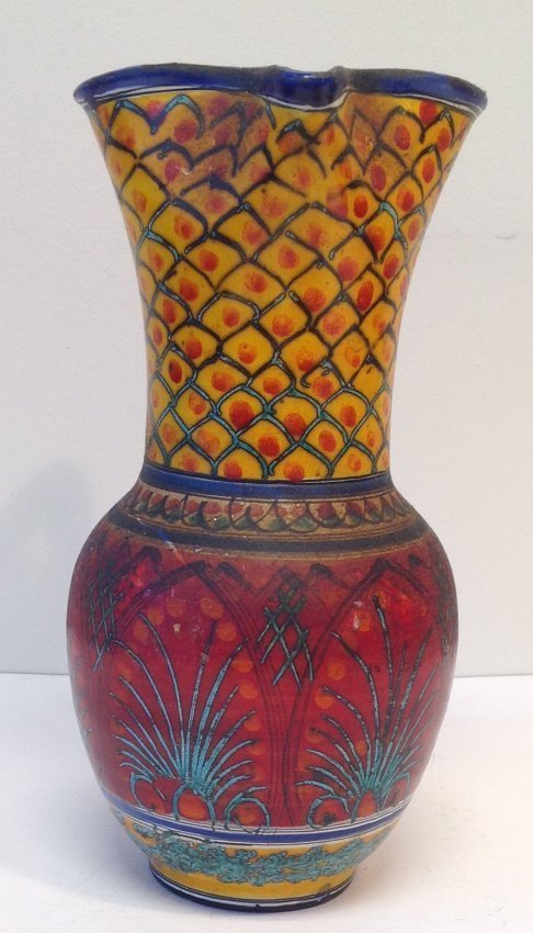 Signed Multi - Color Water Pitcher- Late 20th Century - 2